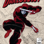 "Cover of Daredevil Vol 1 by Mark Waid, featuring the typographic ""world"" of Daredevil"